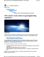 116C_2010_Parliament_House_of_Commons_5th_Report_Regulation_of_Geoengineering_MPs_Call_for_Early_Action_March_18_2010
