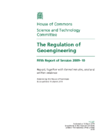 116C_2010_UK_Parliament_Regulation_of_Geoengineering_5th_Report_March_20_2010_Extra_Information