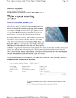 116J_2010_Nature_Reports_February_11_2010_Water_Vapor_Warming_Aviation_Water_Vapor_Problems_not_Reported