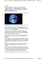 116X_2009_Geoengineering_Open_Subject_in_Obama_Administration_Holden_April_2009_Guardian_UK