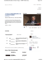 116X_2009_Obama_Science_Advisor_Holdren_Remarks_on_Climate_Change_November_24_2009_C_SPAN_Video