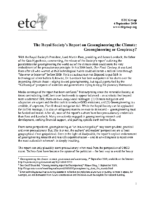 116Y_2009_ETC_Group_September_4_2009_Geoengineering_or_Geopiracy_by_the_The_Royal_Society
