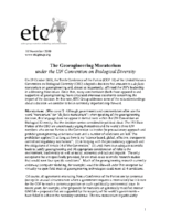 116Y_2010_ETC_The_Geoengineering_Moratorium_Under_the_UN_Convention_on_Biological_Diversity_NOV_10_2010_ETC_Group