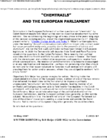 CHEMTRAILS AND THE EUROPEAN PARLIAMENT
