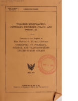 Weather Modification – Programs, Problems, Policy, And Potential (May 1978, 784 pages)
