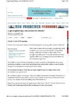 Geoengineering San Francisco Chronicle by Energy Secretary Chu November 26, 2009