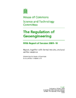 House of Commons The Regulation of Geoengineering 2009 to 2010