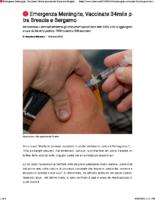 __ Emergenza Meningite, Vaccinate 34mila persone tra Brescia e Bergamo _ BsNews