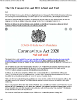 The UK Coronavirus Act 2020 is Null and Void