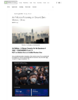 Air Pollution Poisoning at Ground Zero – Wuhan, China