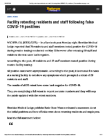 Facility retesting residents and staff following false COVID-19 positives _ Texomashomepage.com