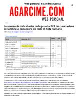 La secuencia del cebador de la prueba PCR de coronavirus de la OMS se encuentra en todo el ADN humano – agarcime.com